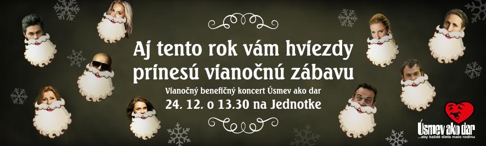 Vianočný benefičný koncert Úsmev ako dar 2014