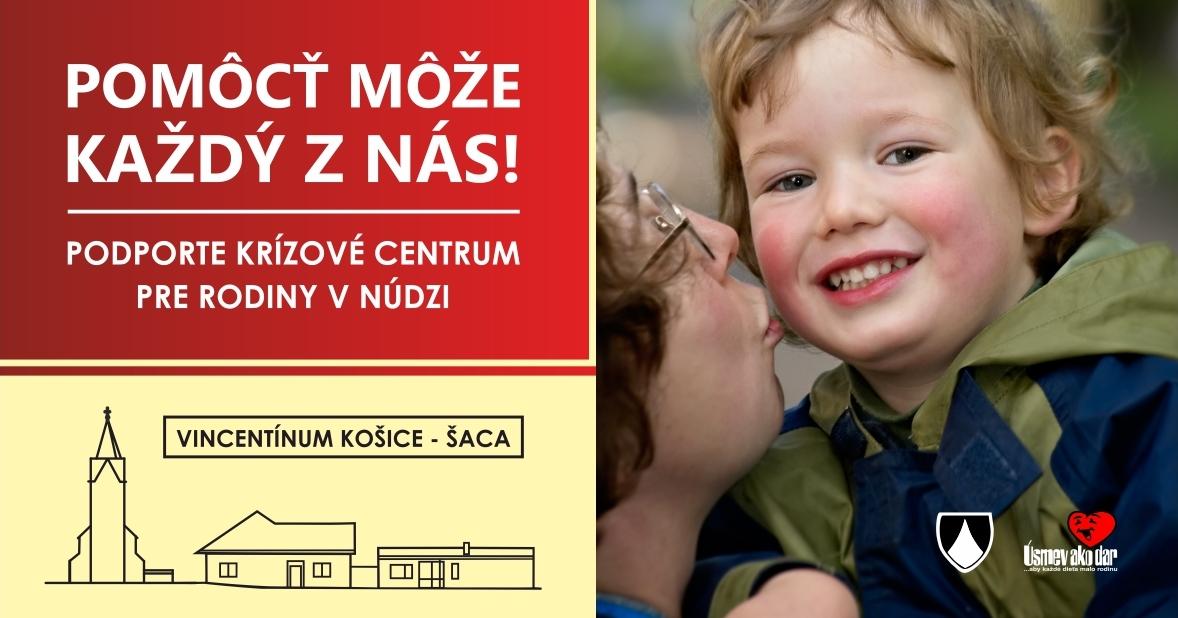 Zapojte sa do zbierky na podporu výstavby centra Vincentínum v Košiciach – Šaci
