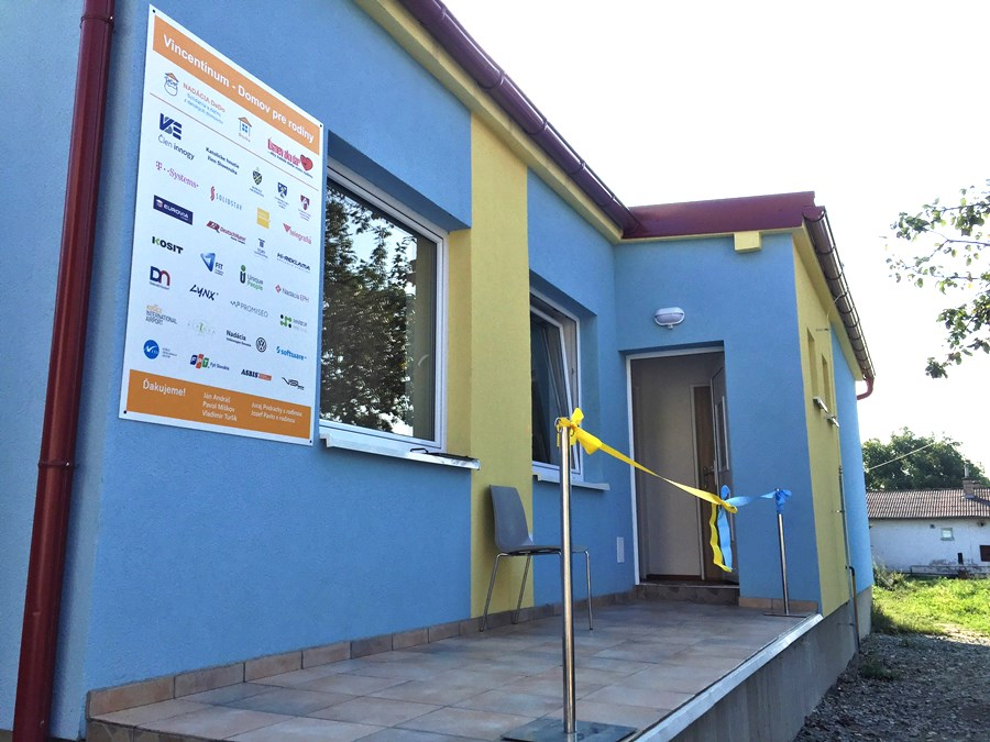 Vchod do prvej časti centra pomoci Vincentínum
