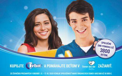 Orbit podporí desiatimi tisícmi eur deti v Úsmev ako dar